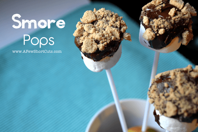 All the taste of a S'more with less mess and its on a stick! This simple S'mores Pops recipe is a hit with the entire family!
