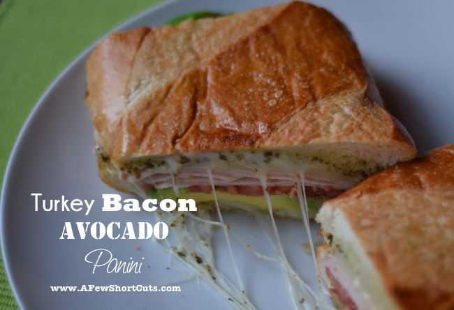 This is one delicious sandwich! You have to try this amazing Turkey Bacon Avocado Panini Recipe