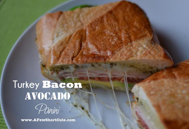 Turkey Bacon Avocado Panini