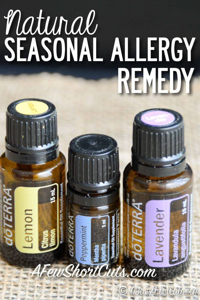 Do you suffer with Seasonal Allergies? They are no fun to deal with year after year. Try this all natural Seasonal Allergy Remedy. It has really helped my son! I love essential oils!