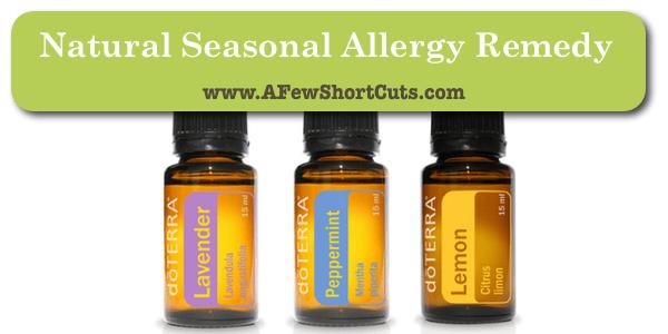 Natural seasonal allergy remedy
