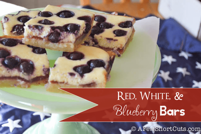 Red White and Blueberry Bars
