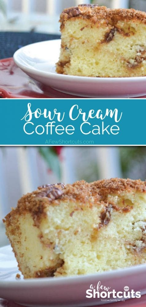 This coffee cake is one of my favorites. Every one will as for this sour cream coffee cake recipe. A classic.