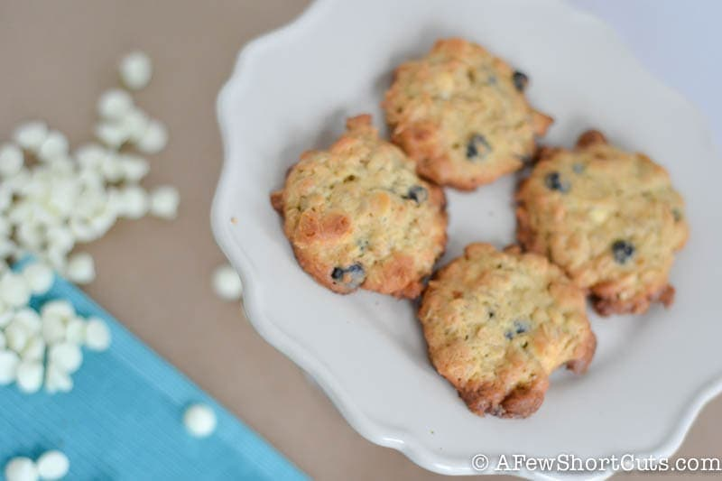 Blueberry White Chocolate Oatmeal Cookies-1
