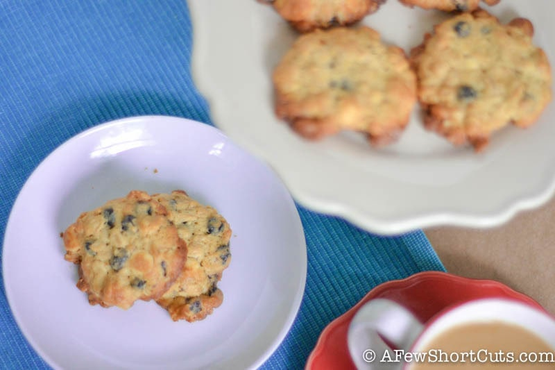 Blueberry White Chocolate Oatmeal Cookies-2