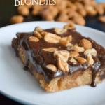 Peanut Butter Fudge Blondies
