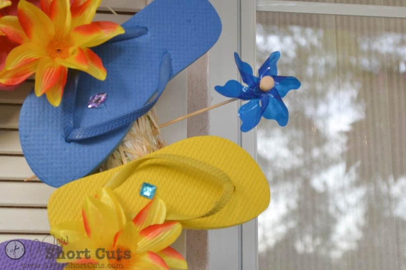 Summer Flip Flop Wreath-4
