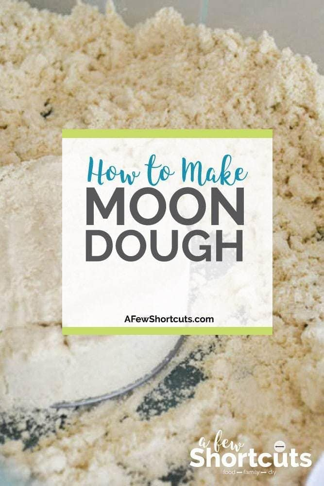 Need an activity for a rainy day or sensory play? Check out How to make Moon Dough! The kid love it!