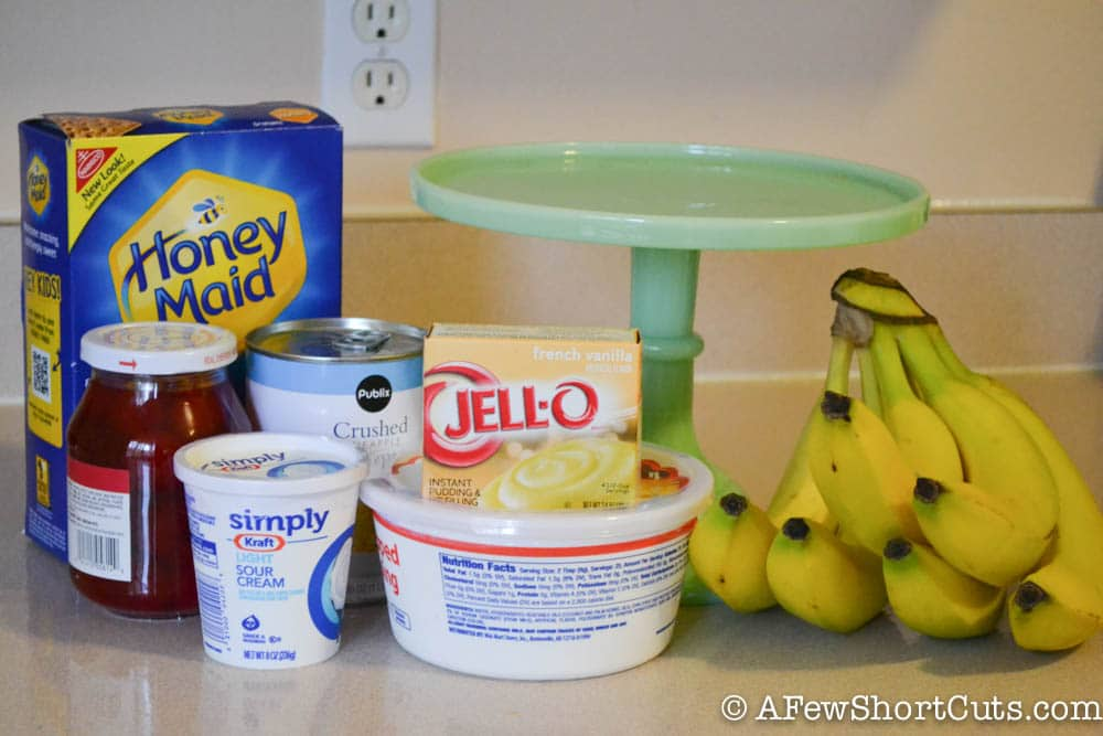Banana Split Ice Box Cake-1