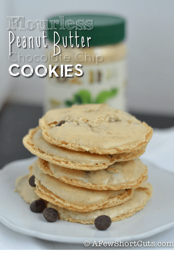 Flourless Peanut Butter Chocolate Chip Cookies Recipe - A Few ...