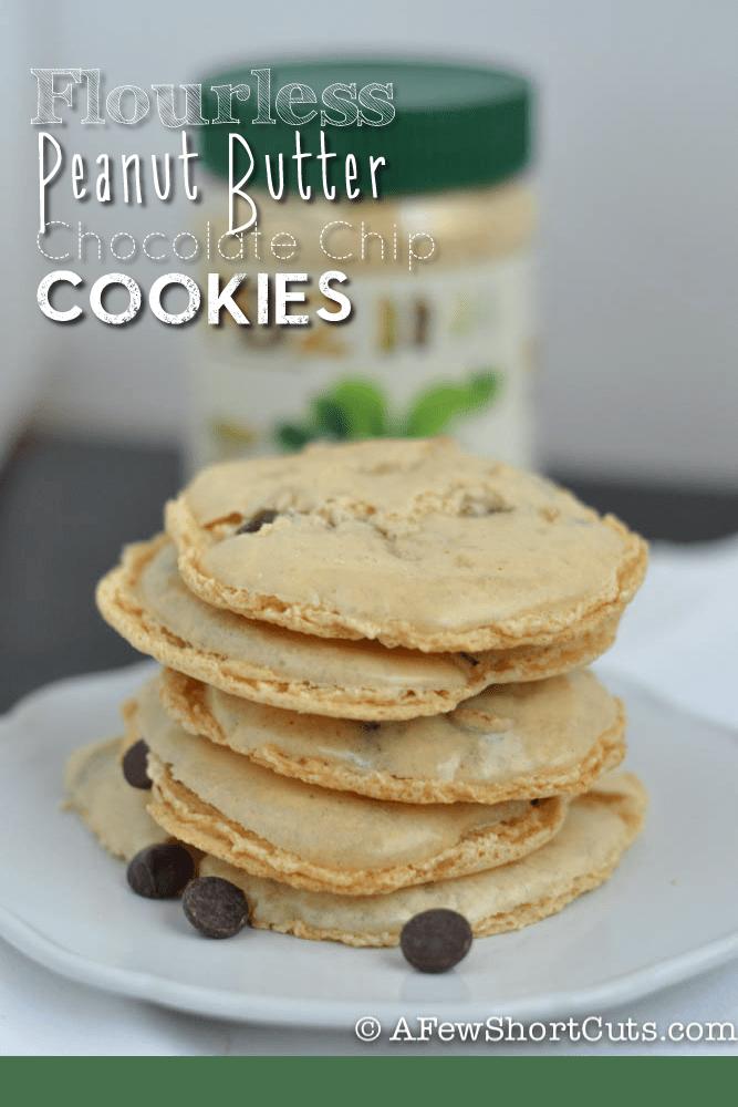 Flourless Peanut-Butter Chocolate Chip Cookies Recipe