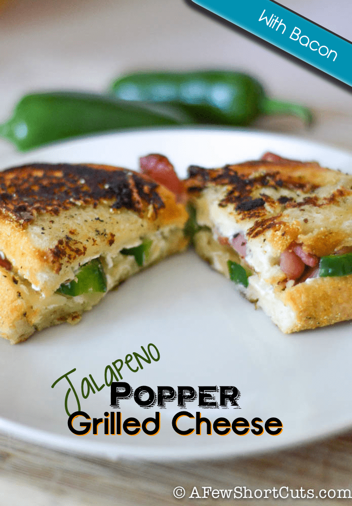 Spice up your day with this tasty Jalapeno Popper Grilled Cheese Sandwich Recipe. A yummy twist on a classic