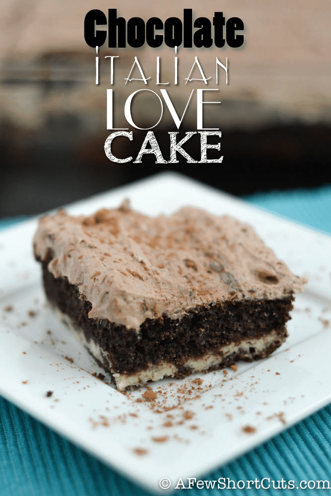 A unique chocolate cake recipe that is sure to spread the love all around! This Chocolate Italian Love Cake recipe is definitely a keeper. Make it for the chocolate lover in your life!