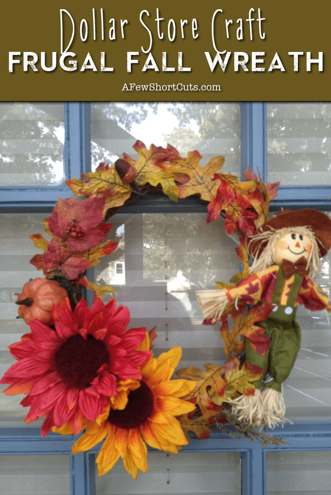 Dollar-Store-Craft-Frugal-Fall-Wreath