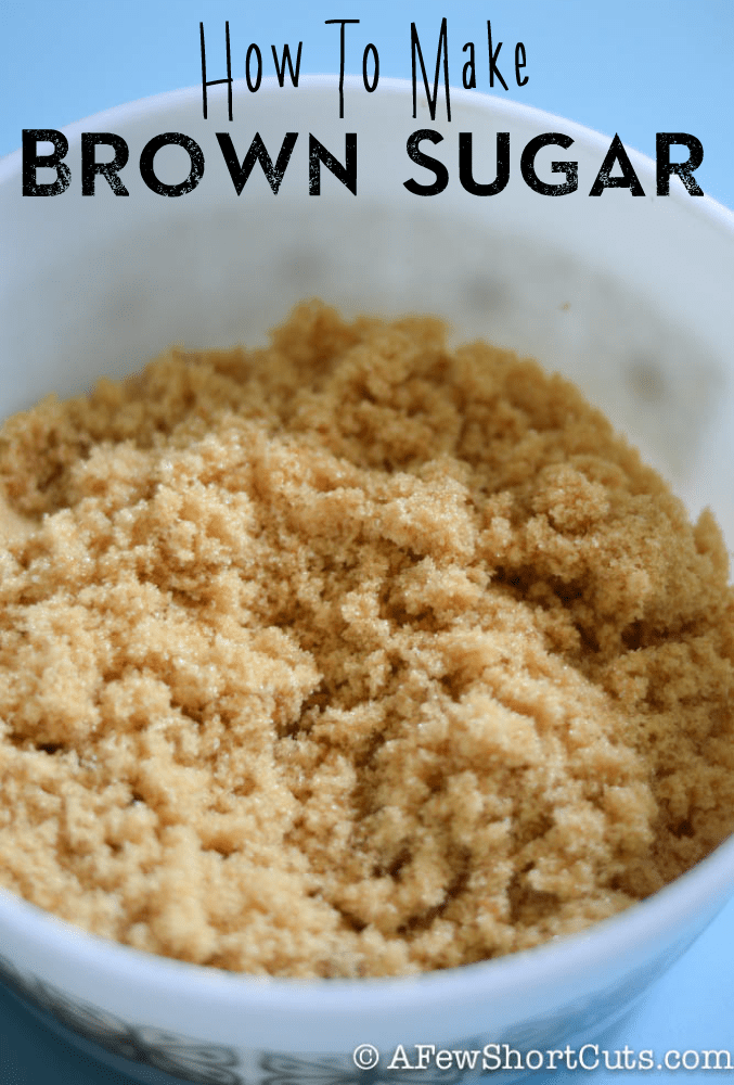 Baking and out of brown sugar? Don't run to the store. Learn how to make brown sugar with things from your kitchen. Super simple!