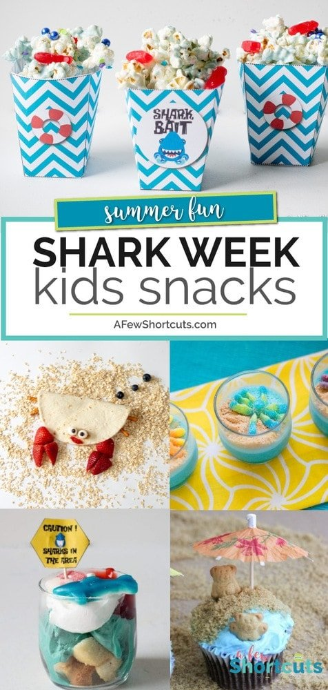 Shark Week is almost here. Time to make some fun Shark Week Kids Snacks to keep the entire family in on the fun! Check out these adorable ideas!