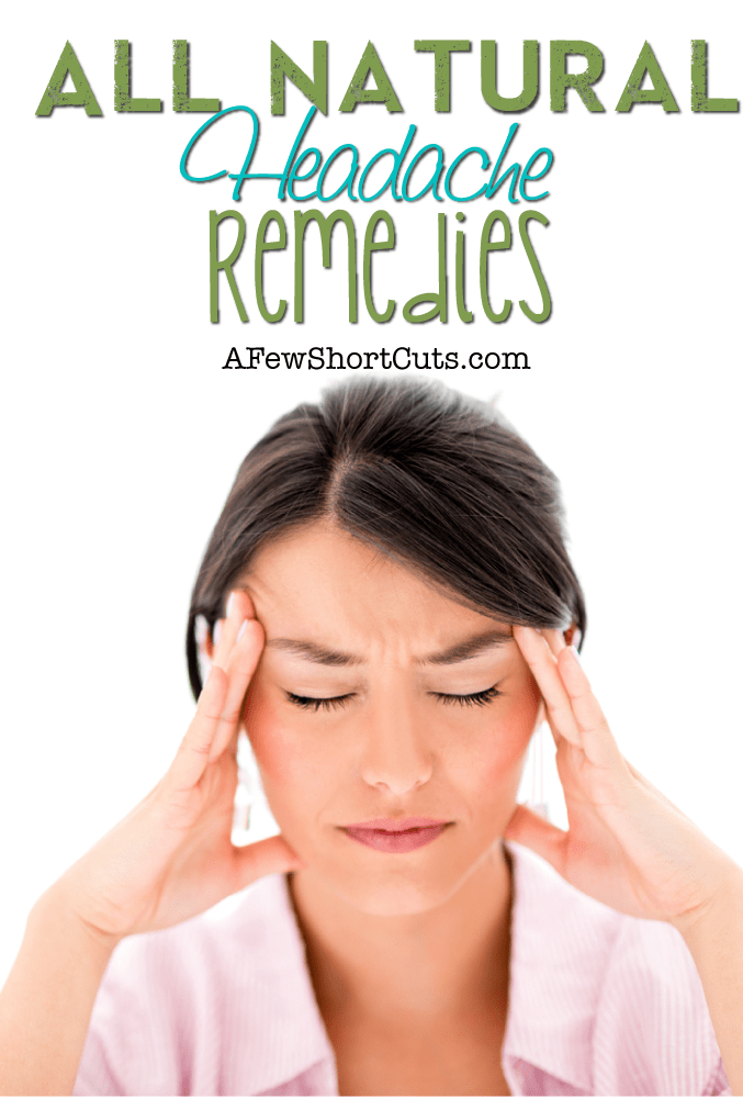 Put down the bottle of tablets, and try these All Natural Headache Remedies. They really do help alleviate the pain.