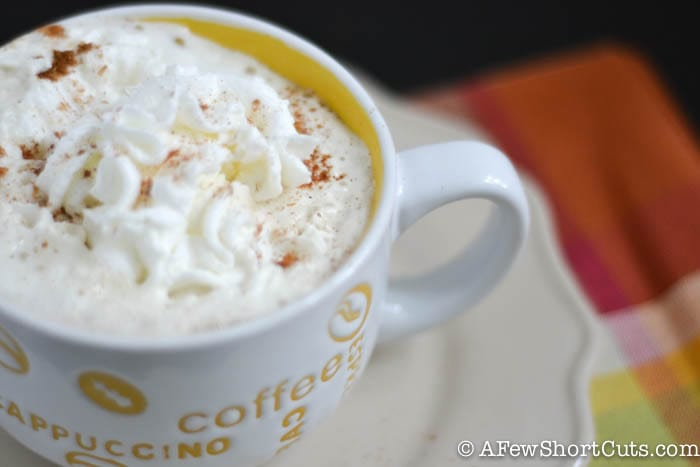 Who needs starbucks? Check out this Copycat Starbucks Pumpkin Spice Latte Recipe that is way better than the original and uses your keurig! Love it!