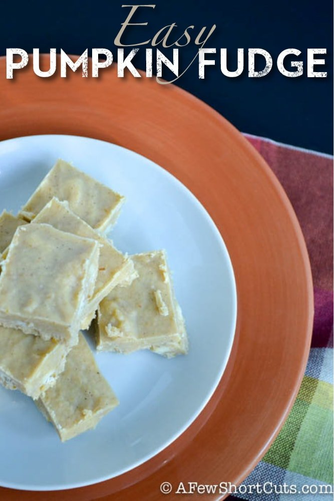 This decadent fudge is a must make! Try this Easy Pumpkin Fudge Recipe today!