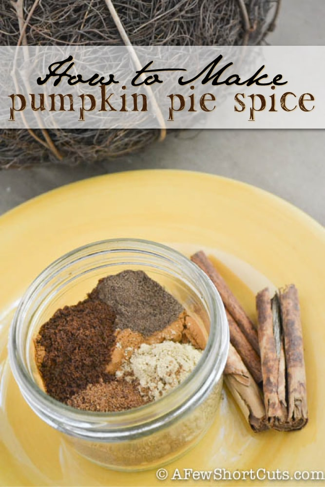 Need some pumpkin pie spice for a recipe but you are out? Learn How to Make Pumpkin Pie Spice from other spices in your cabinet. Plus it is cheaper!