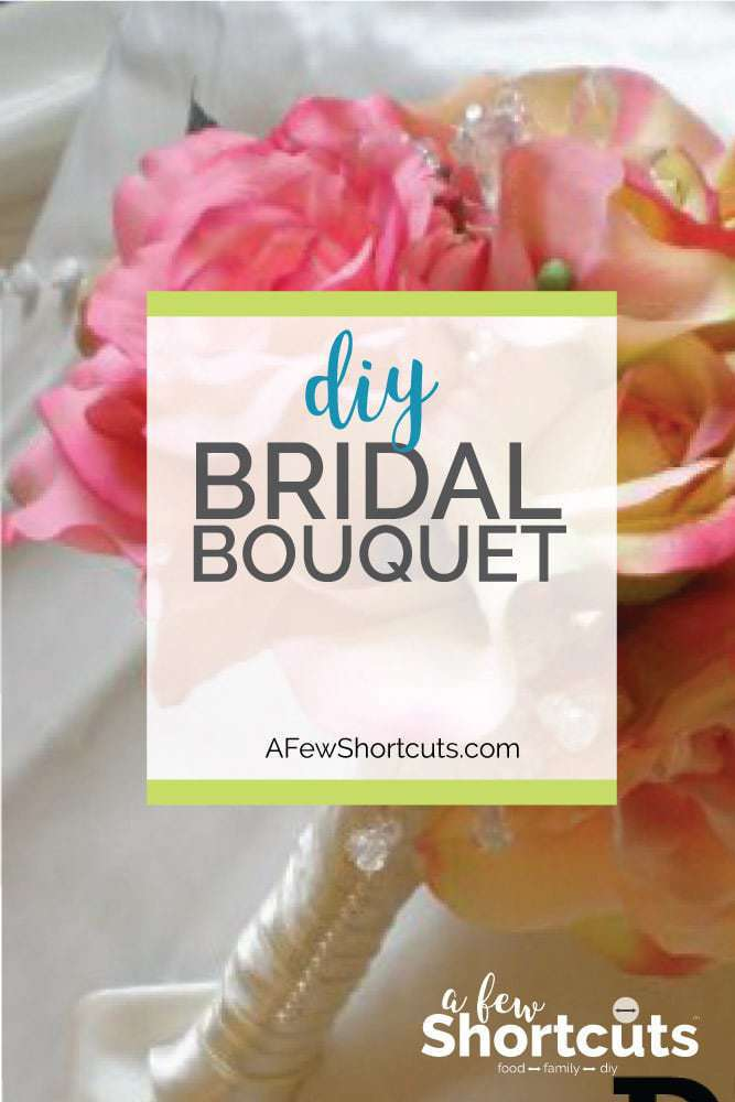 Have a perfect bouquet for your wedding and save some money too! Learn how to make your own DIY Bridal Bouquet with a few items from the craft store!