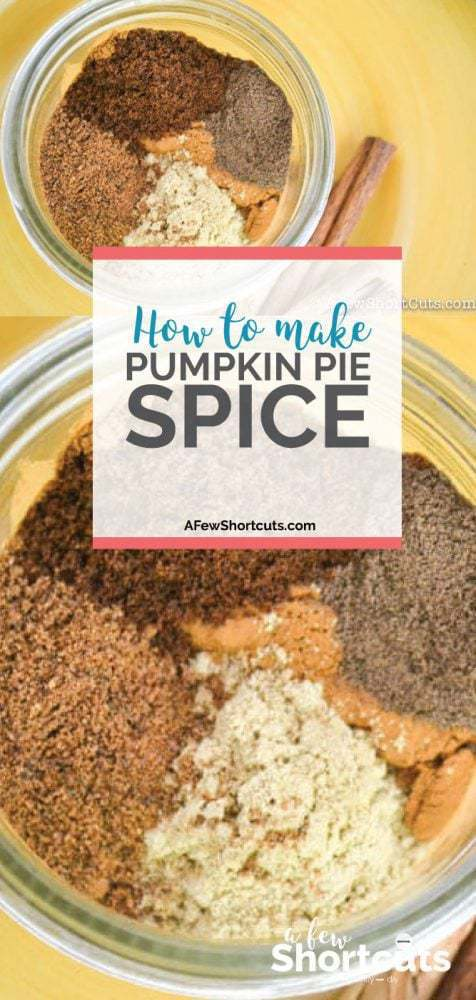 Being but you are out of Pumpkin Pie Spice? Learn How to Make Pumpkin Pie Spice from other spices in your cabinet. Plus it is cheaper!