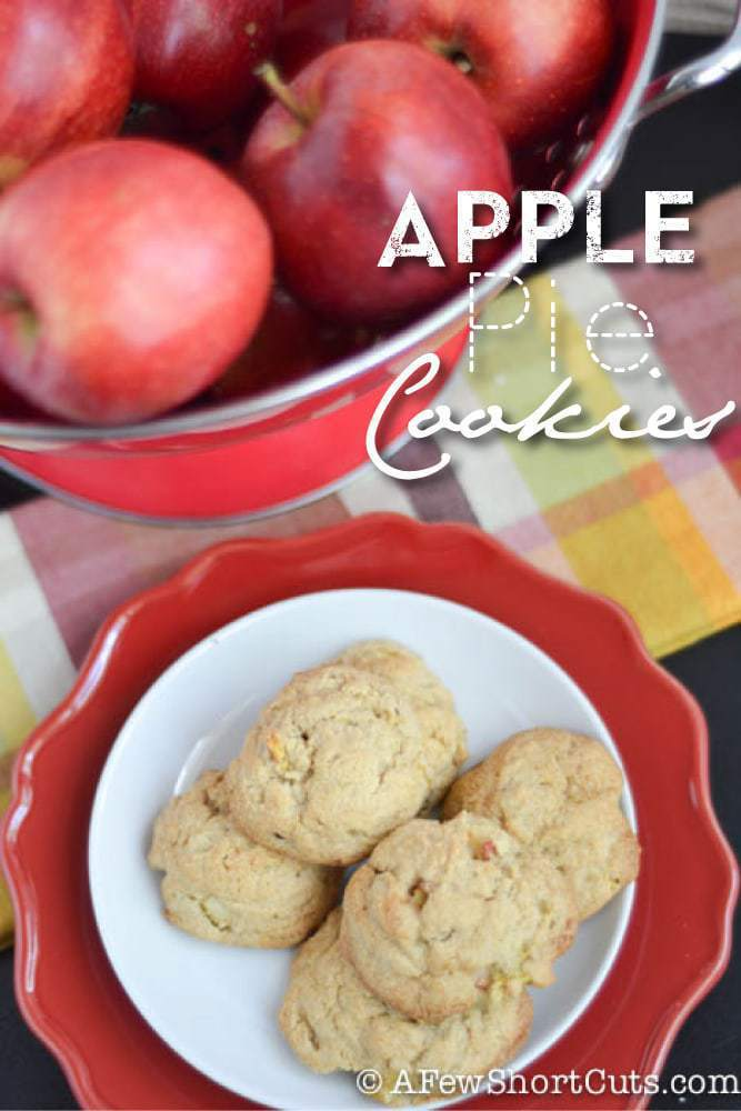 These are as easy as apple pie! You have to try this tasty Apple Pie Cookies Recipe