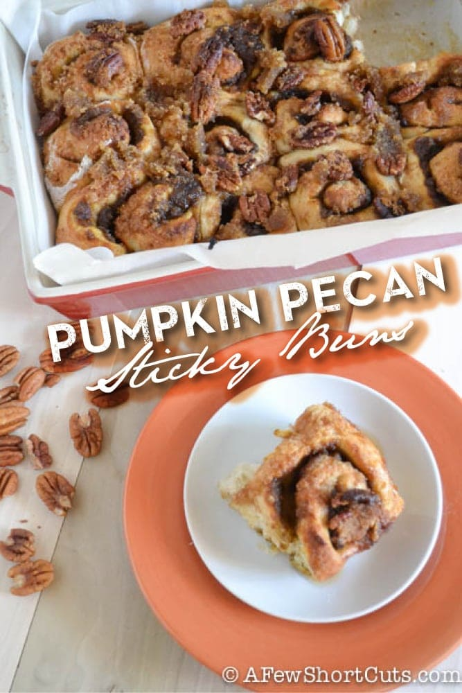 This is a breakfast of champions in the fall! This Pumpkin Pecan Sticky Buns Recipe is a keeper!