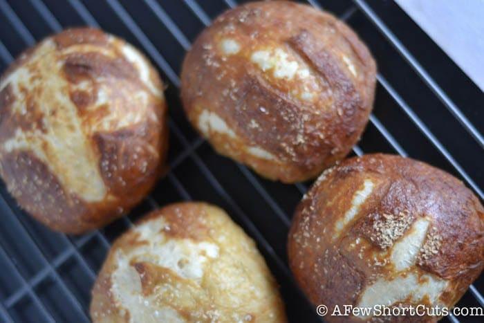 easy pretzel buns-1