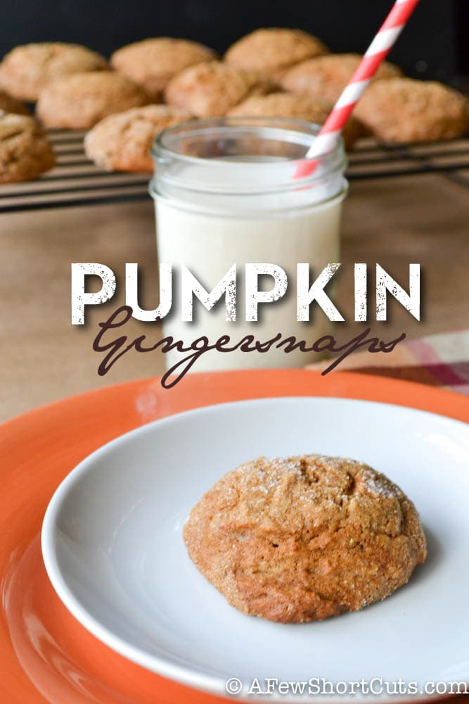 If you love pumpkin you will love this Pumpkin Gingersnaps Recipe. Such a fun twist on a classic cookie