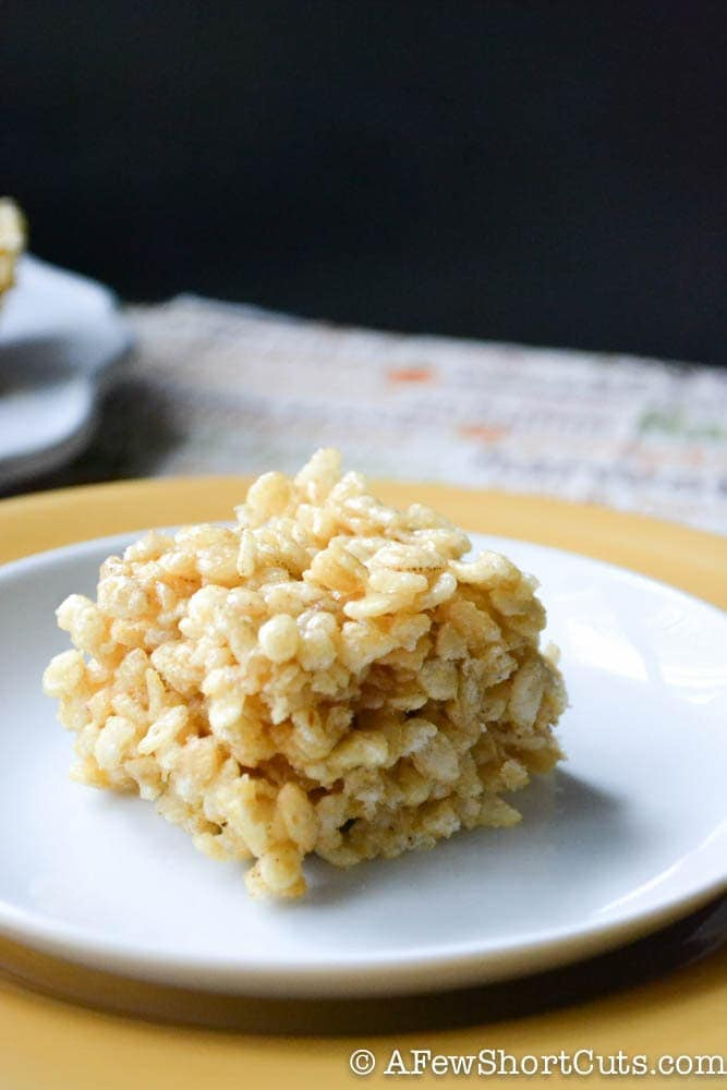 Pumpkin Rice Krispie Treats-1-2