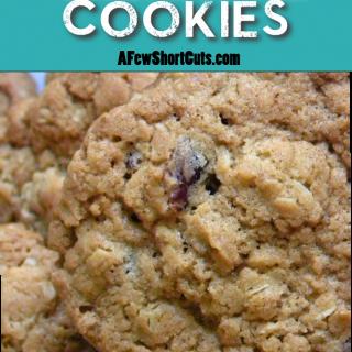 White Chocolate Oatmeal Crasin Cookies