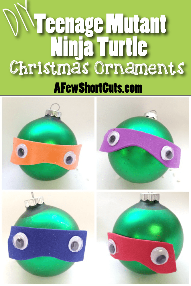 These are fun for your TMNT fan! Make these DIY Teenage Mutant Ninja Turtle Ornaments with your kids this holiday season!