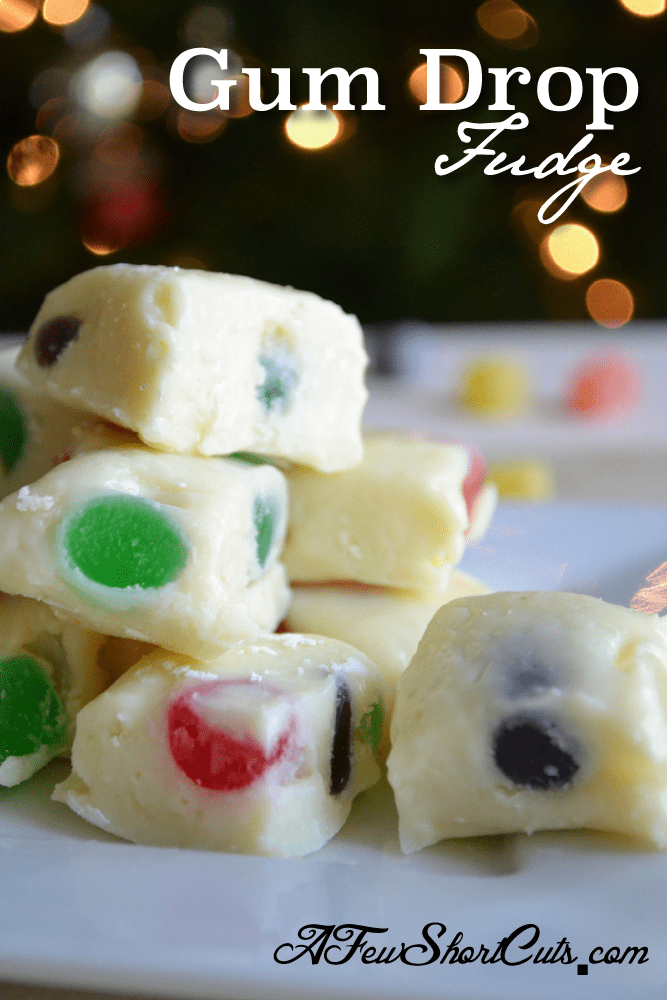 This is perfect for Christmas! This simple Gum Drop Fudge Recipe is AMAZING!