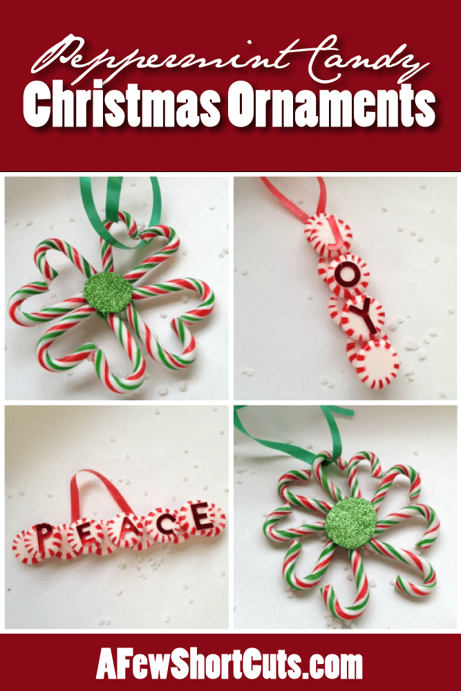 get crafty with your family and make these peppermint candy christmas ornaments this super easy - Peppermint Christmas Decorations