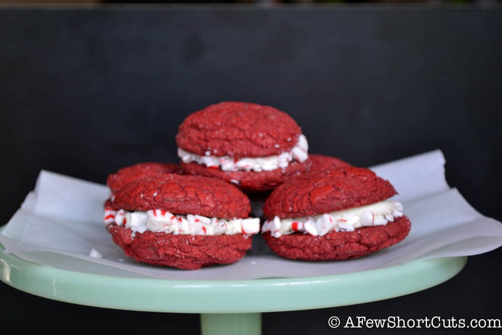 Peppermint Mocha Sandwich Cookies - A Few Shortcuts