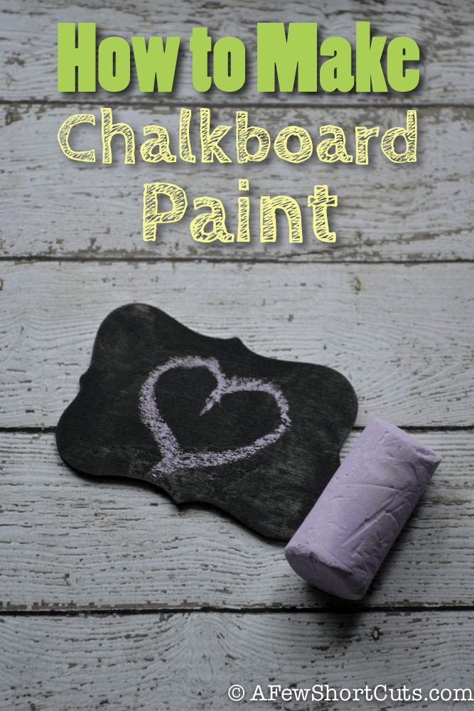 Check out this simple way to make Chalkboard paint with any paint you have on hand. AWESOME!