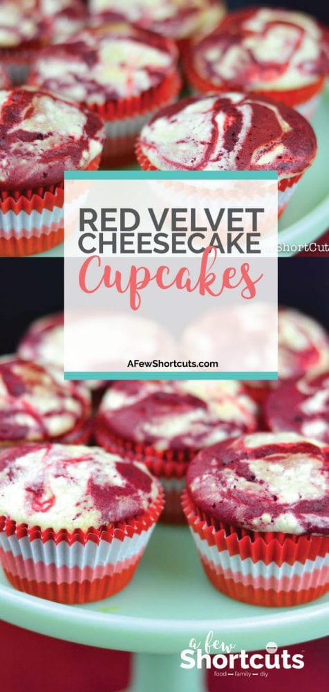 These are amazing and easy to make. Try this Red Velvet Cheesecake Swirl Cupcakes Recipe. Perfect for valentines!