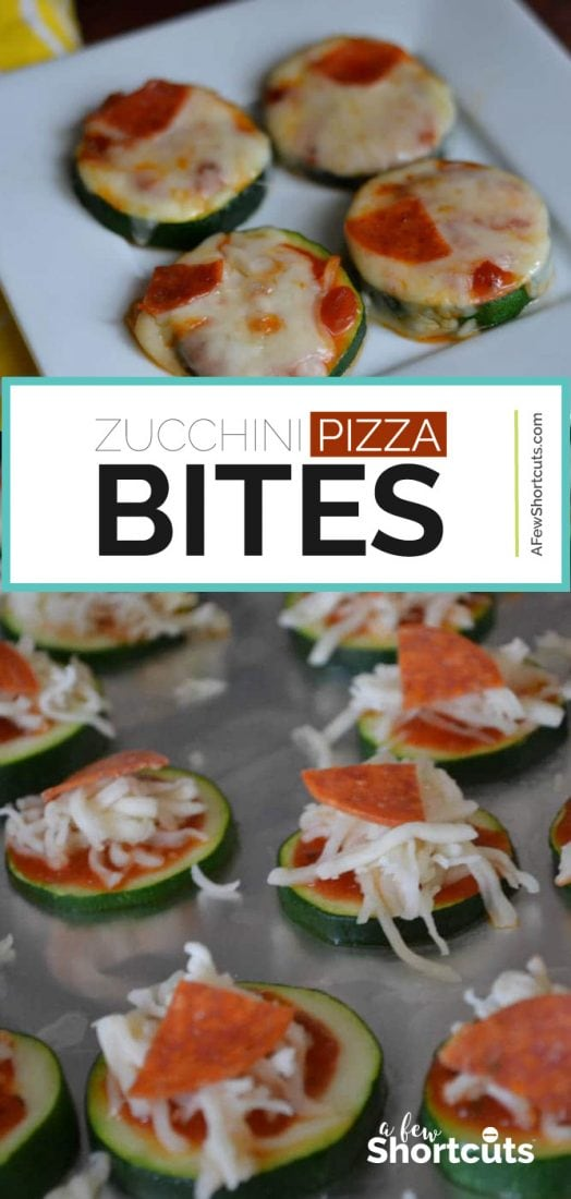 What a great low cal appetizer. Try this amazing and easy Zucchini Pizza Bites Recipe. Kids love it!  | @AFewShortcuts #keto #appetizer #healthy #recipes #lowcarb #kidfood #pizza