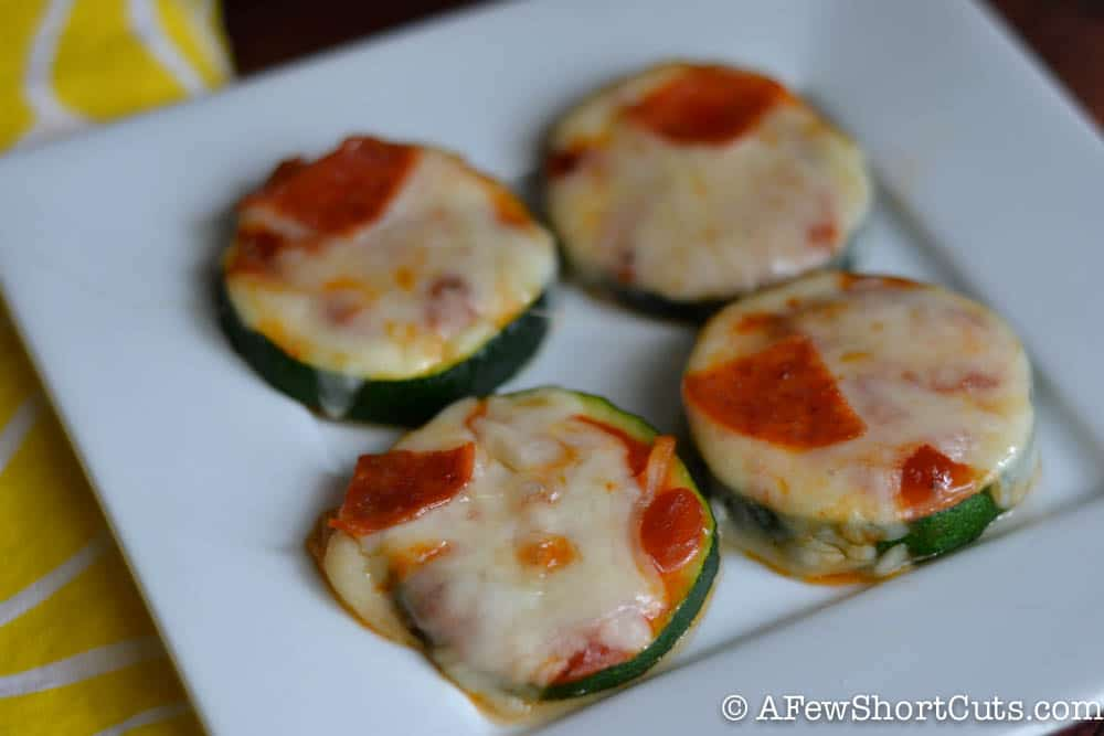 Zucchini Pizza Bites - A Few Shortcuts
