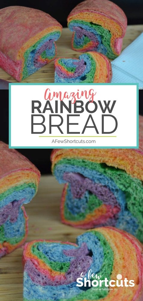 Make the coolest sandwich ever with this colorful Rainbow Bread Recipe! So much fun and perfect for spring or St Patricks Day!