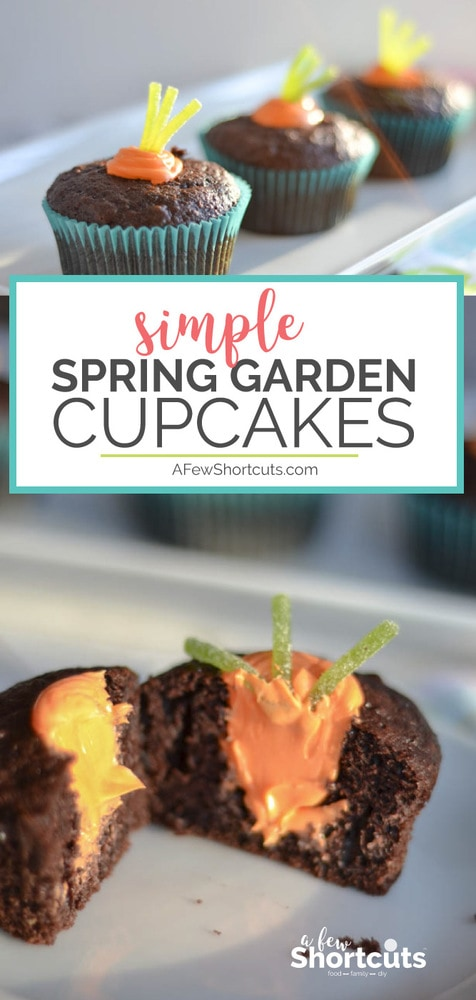 Check out these adorable Simple Spring Garden Cupcakes for Easter, Spring, or any Garden party.