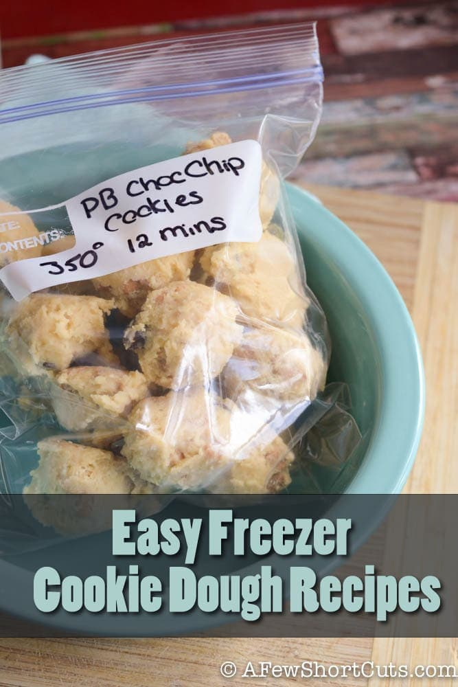 Have cookies anytime the mood strikes with these Easy Freezer Cookie Dough Recipes