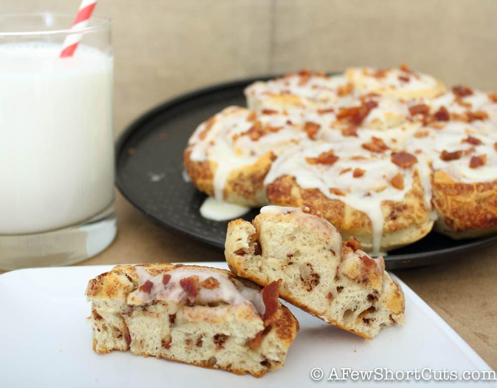 Bacon Cinnamon Rolls — A Few Shortcuts