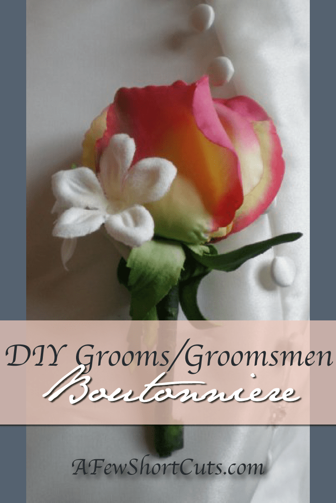 Save on your wedding budget with these DIY Grooms/Groomsmen Boutonnieres