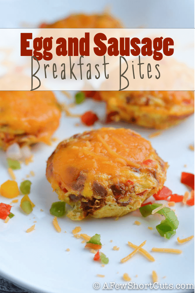 Quick and easy breakfast idea for those busy days! Check out just how simple this Egg and Sausage Breakfast Bites recipe really is!