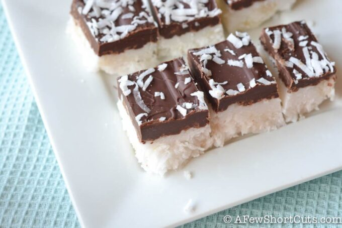 Healthy chocolate? This is pretty close! Try this simple Chocolate Coconut Bars Recipe for a delicious treat when that sweet tooth strikes. #vegan #glutenfree #dairyfree