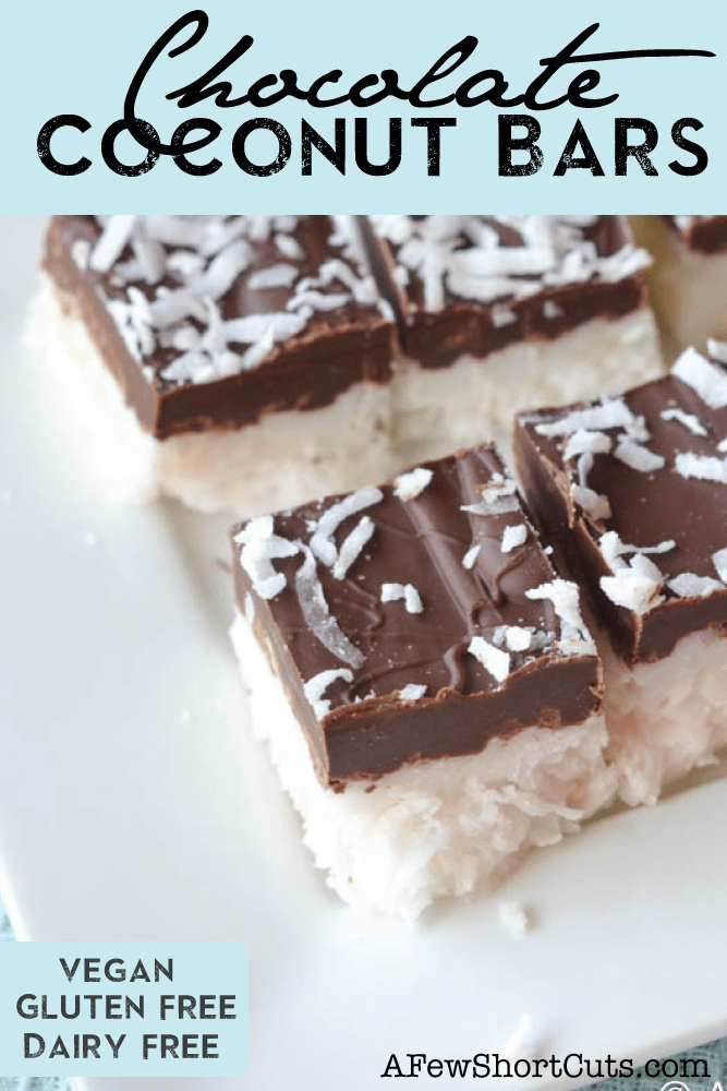 Chocolate Coconut Bars | A Few Shortcuts