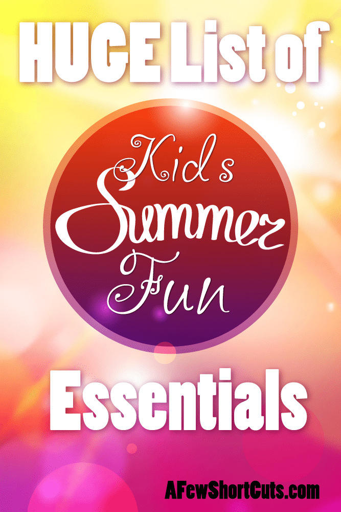 This is a HUGE List of items to keep the kids busy all summer long!