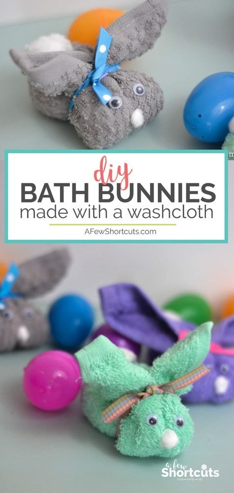 A simple, affordable, and cute way to make bathing more fun! Check out this adorable DIY Bath Bunnies Craft! Great for Easter!